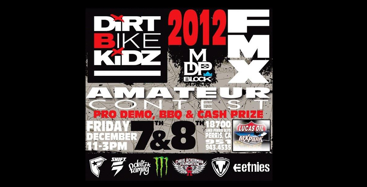 Dirt Bike Kidz Amateur FMX contest