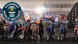 Nitro Circus' World Record Backflip stunt!