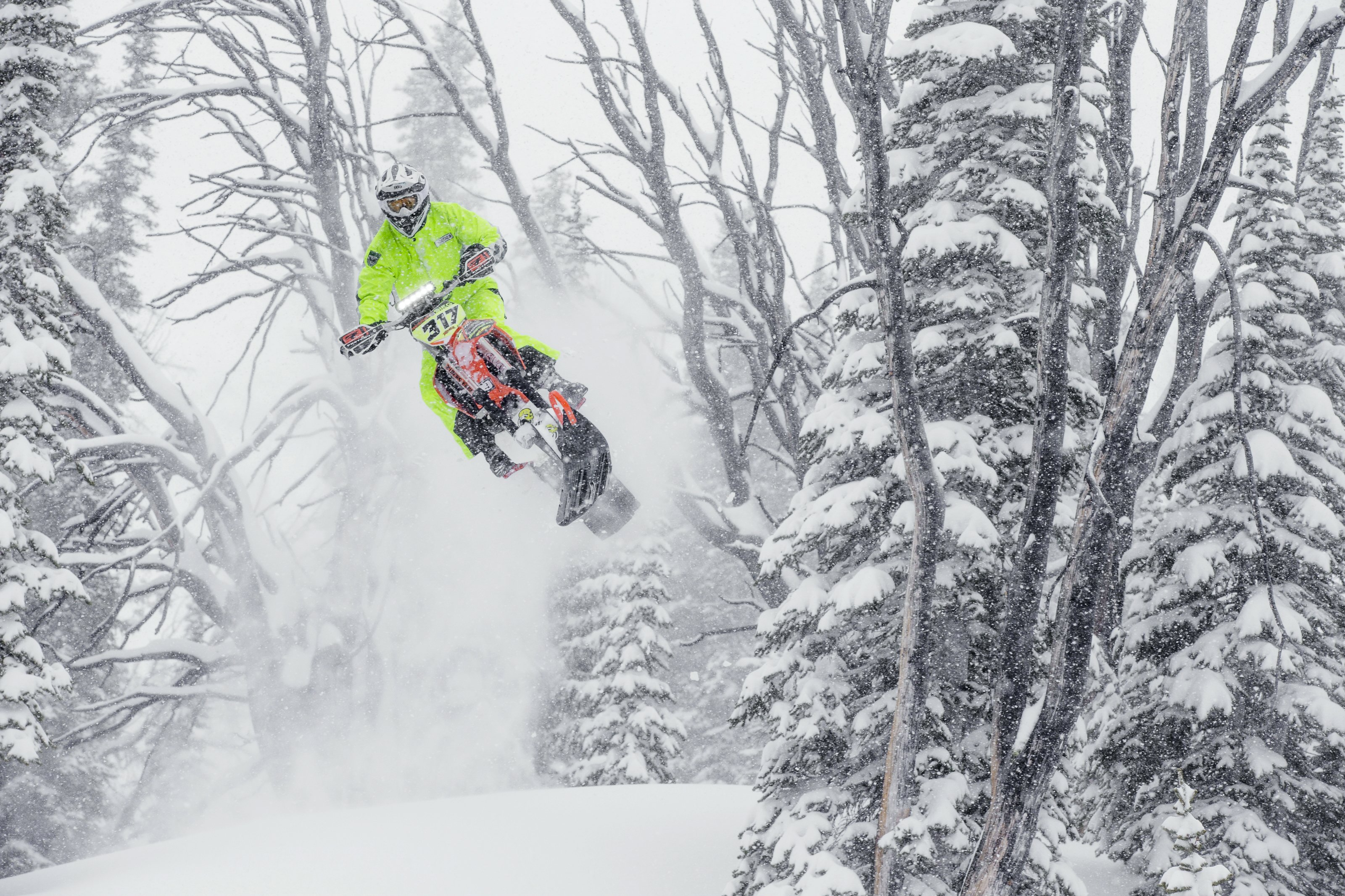 Backcountry Snowbike Sessions in Idaho with Ronnie Renner, Brock Hoyer & Reagan Seig