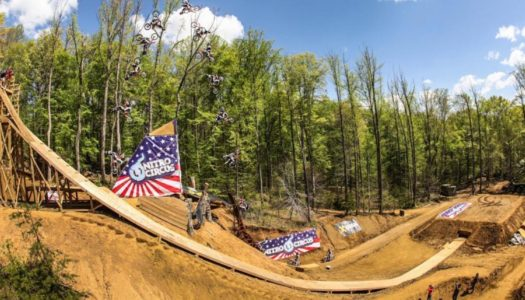 Watch Josh Sheehan Send the World's First FMX Triple Backflip in Travis Pastrana's Woods